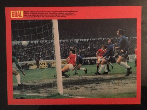 #*1973* a4 football #match action picture poster brian kidd man utd v #chelsea,  View more on the LINK: 	http://www.zeppy.io/product/gb/2/381920574159/