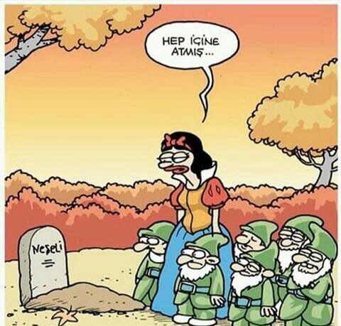 Karikatür: Hep içine atmış...
