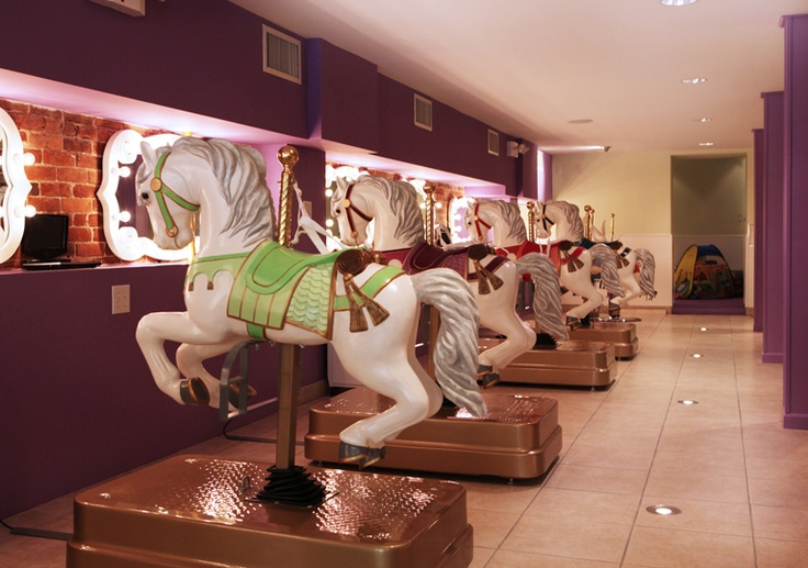 Carousel Cuts is a children's hair salon in New York's Upper East Side.