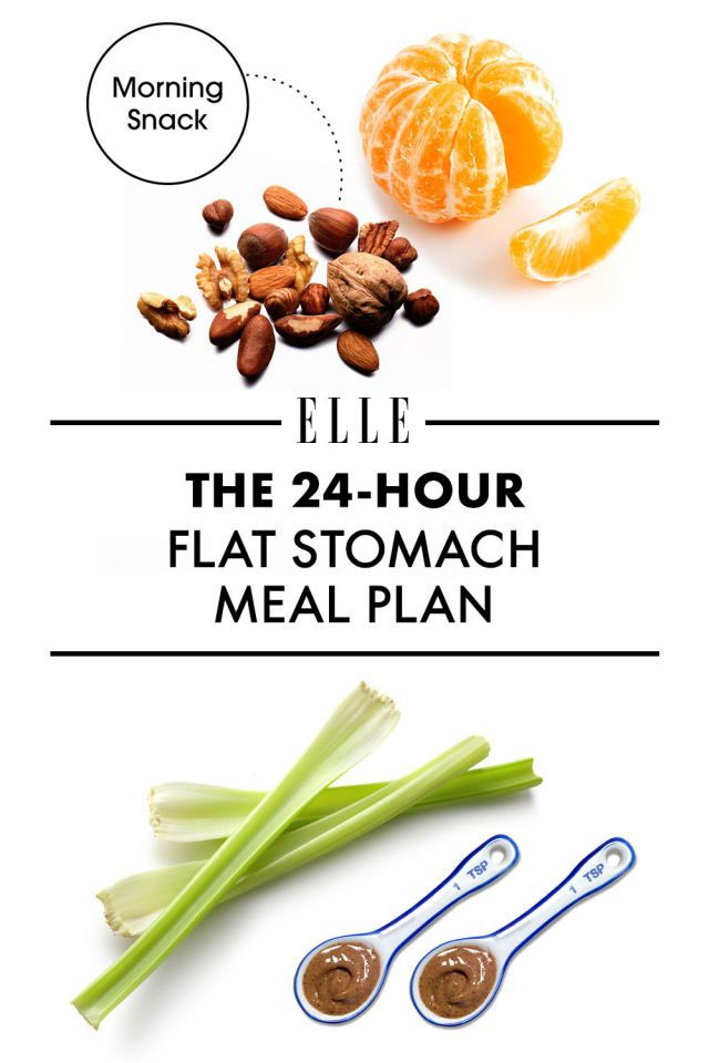 While it's not possible to uncover a six-pack overnight, it is possible to reduce bloat in hours just by eating strategically—even without subsisting on niche superfoods that you have to search 12 health-food stores to find. Here, nutritionist Keri Glassman reveals a day of flat-belly meals and snacks made from ingredients that you can probably find in your pantry or local bodega.