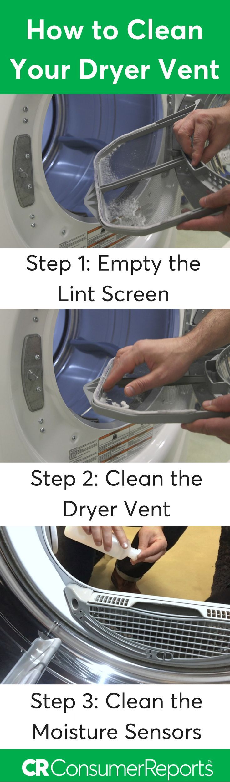Not taking care of your dryer causes several issues, starting with longer drying times, which can lead to shrunken clothes and heat-damaged fabrics. Worse yet, it can pose a fire danger. Here's how to get peak performance, efficiency, and safety out of your clothes dryer in a few simple steps.