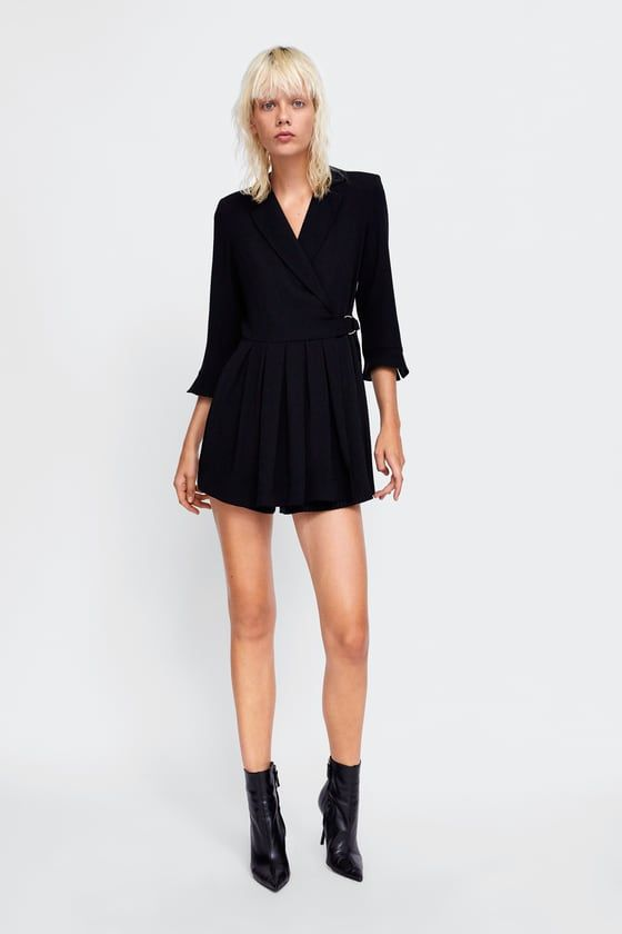 d4f8d7e5be9 ZARA - FEMME - PLEATED BLAZER PLAYSUIT