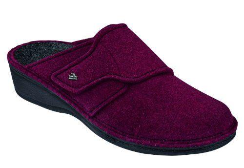 FINN COMFORT Damen Pantolette ANDERMATT cassis Wollfilz 6550, 40 - http://on-line-kaufen.de/finn-comfort/40-eu-finn-comfort-damen-pantolette-andermatt