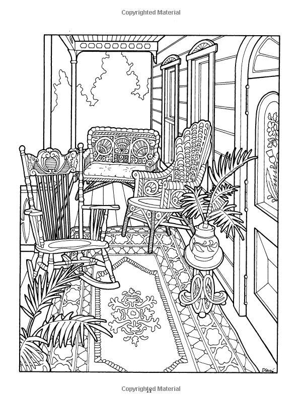 Victorian House Coloring Book: Amazon.fr: Daniel Lewis, Kristin Helberg: Livres anglais et étrangers