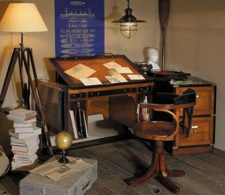nautical office furniture. nautical folding desk - office style desk-bureau furniture a