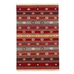 Red Tribal Wool Kilim Rug | Myakka