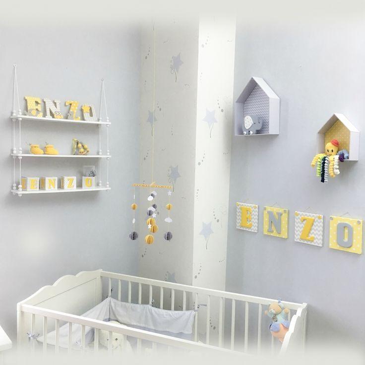 Les 25 meilleures idées de la catégorie Chambres d\'enfant gris ...