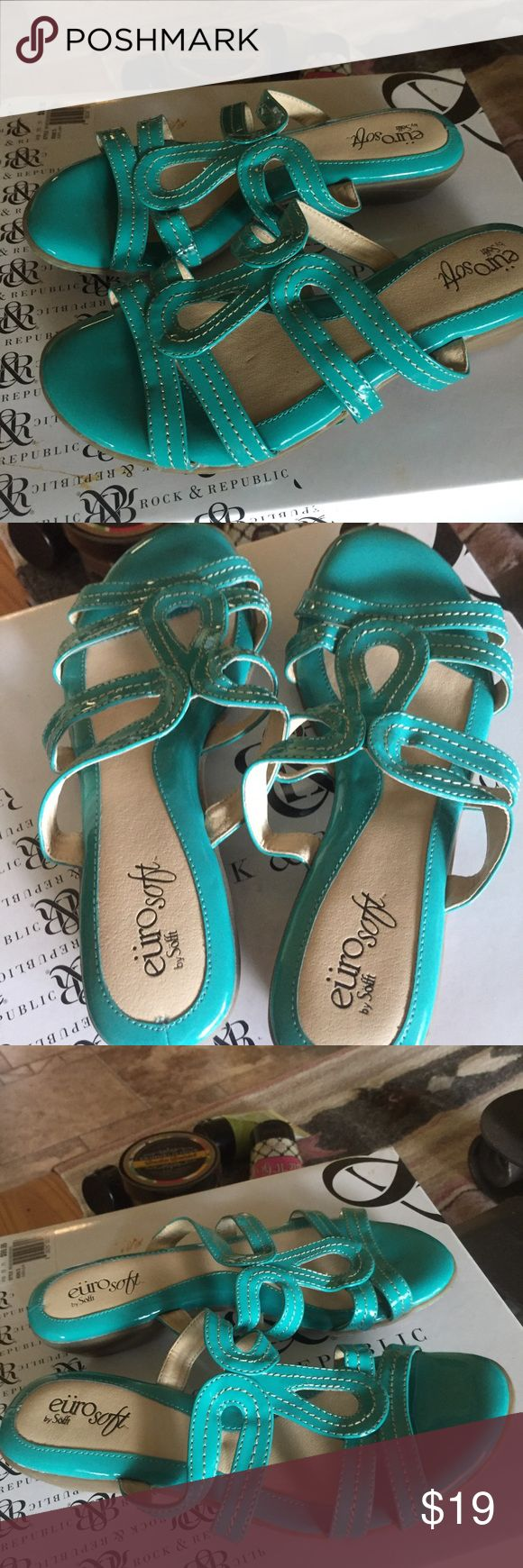 Eürosoft by Söfft Dark Teal Sandals, NWOT Eürosoft by Söfft Teal Sandals Size: 6.                                                         NWOT.                                                         Leather Upper and Lining Eürosoft by Söfft Shoes Sandals