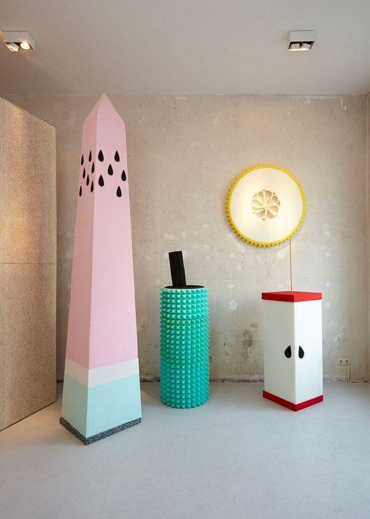 sarah illenberger's fruit sculptures (that watermelon obelisk!)