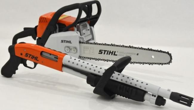 You're not bulletproof..., Buzzkill The Mossberg 500 Chainsaw is a much...