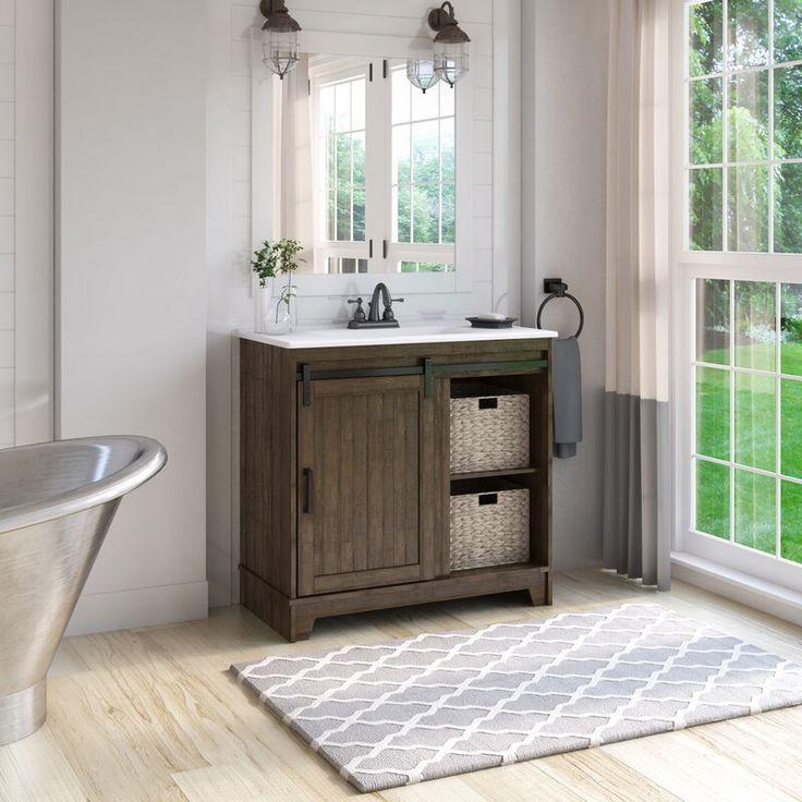 Braylen sliding barn door 36 single bathroom vanity set