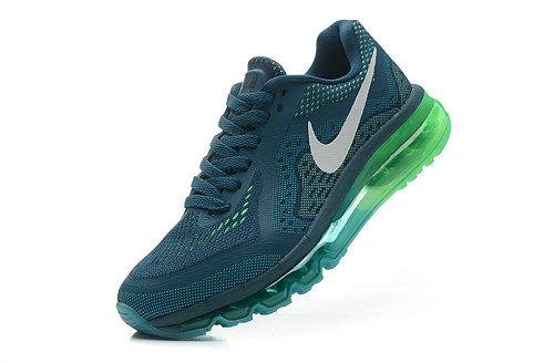 2014 cheap air max 621078-301 green white women running shoes