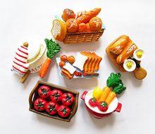 1 Parça Yaratıcı Gıda Şekli Sevimli Ekmek Domates Havuç Jambon Sosis Buzdolabı Hatıra Mıknatıslar Sticker Ev Dekor Iş Hediye TZ56(China (Mainland))