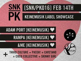 'Día de San Valentín Keinemusik showcase By Sneakpeak' el 14 de febrero en Baum. #look4party #armatuplan #rumba #amigos #sanvalentin