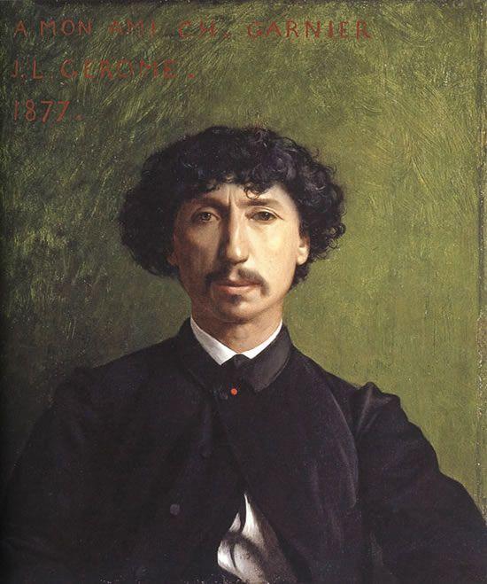 Portrait de Charles Garnier ~ Jean-Léon Gérôme ~ (1824-1904)