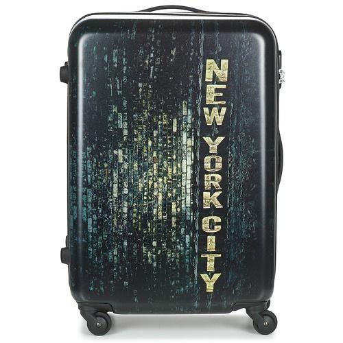 Du kan beskytte din bagage under rejsen med denne kuffert fra David Jones. Den er lavet i syntetisk materiale, og den sorte farve gør den unik. Dens volumen og lommerne gør den helt perfekt. Et teleskophåndtag fuldender modellen. - Farve : Sort - Tasker 335,00 Kr