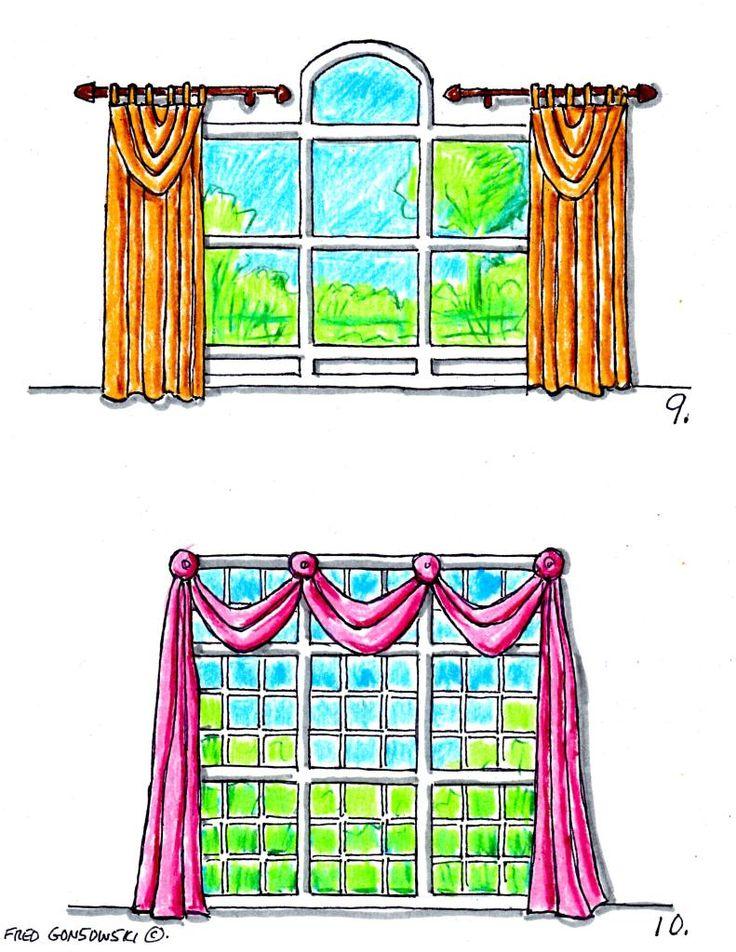 GUIDA TENDE: Scegliere la tenda e le mantovane giuste in base ai diversi tipi di finestra (FRED GONSOWINSK)