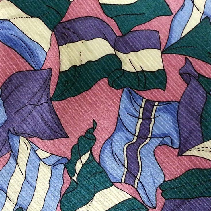 John Blair Mens Neck Tie 100% Silk Flags Purple Background Classic Wide Handmade #JohnBlair #NeckTie