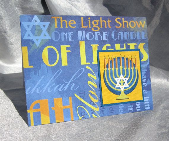 Hanukkah Card by WistfulWhimsyDesigns on Etsy, $1.75