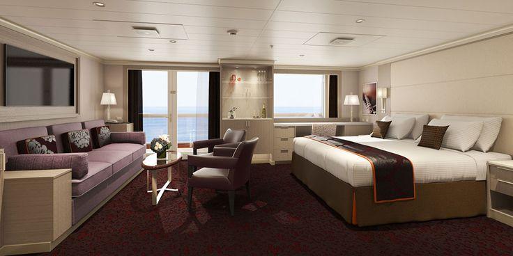 Neptune Suite Rendering Koningsdam Holland America Line Offers First Look At New Koningsdam Cabins An Holland America Holland America Line Best Cruise Lines