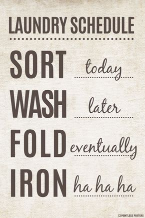 Laundry Schedule Poster in 2018 House Ideas Pinterest Laundry