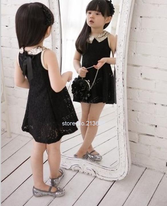 Прекрасные девушки одеваются лето 2014 детские детские блестками воротник цветок рукавов жилет кружева платье принцессы черный белый красная роза #3SV00088, принадлежащий категории Платья и относящийся к Одежда и аксессуары на сайте AliExpress.com | Alibaba Group