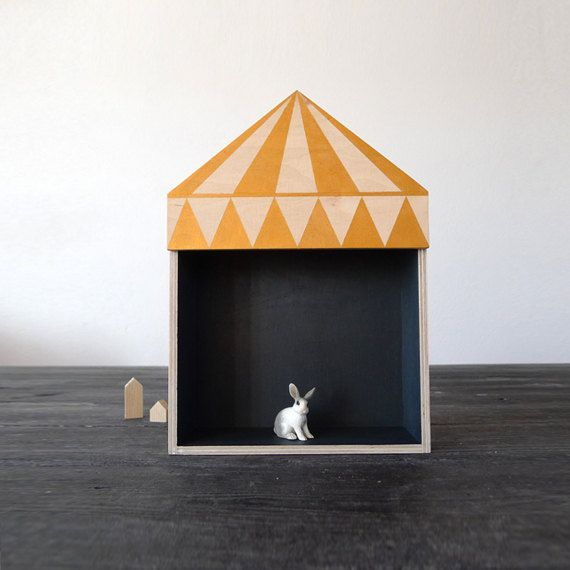 Kids room decor, circus box shelf, plywood childrens furniture, childrens gift, golden,circus design  Circus shape Shelf made from water
