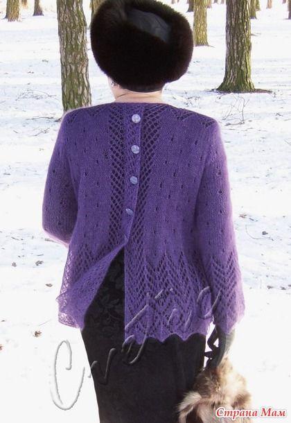 Пуловер и палантин из королевского мохера.