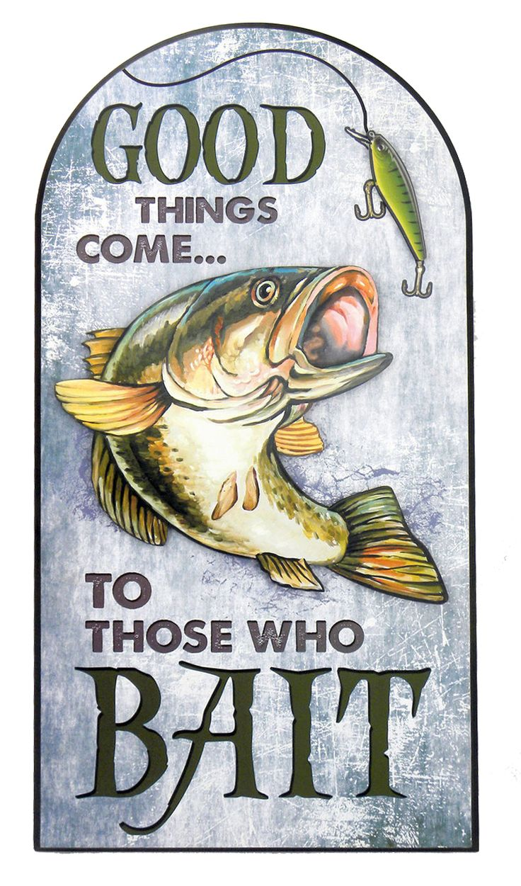 """American Expedition - """"Good Things Come to Those Who Bait"""" Wooden Sign, $13.79 (https://americanexpedition.us/good-things-come-to-those-who-bait-wooden-sign/)"""