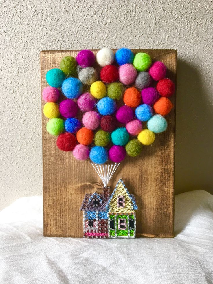 UP House String Art, Hot Air Balloon String Art by PurplePalletDesigns on Etsy                                                                                                                                                                                 More