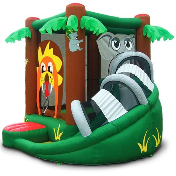 Safari Bounce House with Slide. $404 Shop now at yardkid.com. FREE Shipping! #bouncehouse