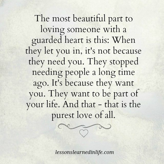 Lessons Learned in Life | Guarded heart.