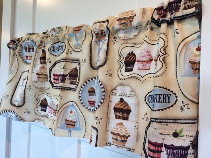 Cupcake bakery tan and brown Kitchen Curtain Valance by CurtainsbyChandra on Etsy https://www.etsy.com/listing/399529405/cupcake-bakery-tan-and-brown-kitchen