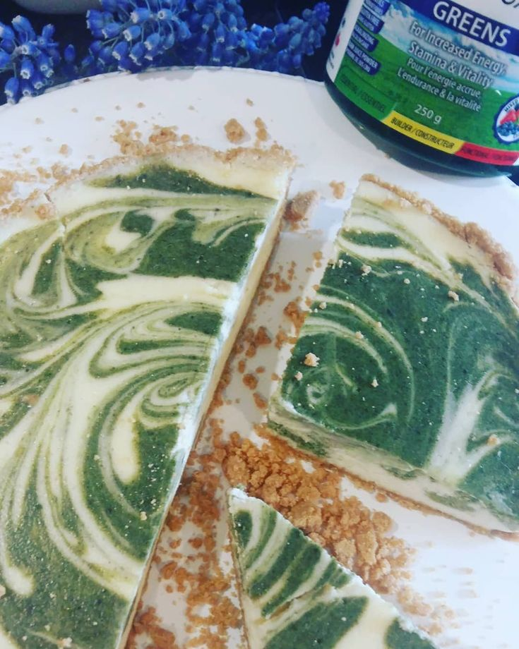 My Enerex Superfoods Recipe #trynatural #smoothieboost #greenpowder #homemade #cheesecake @enerex @socialnature