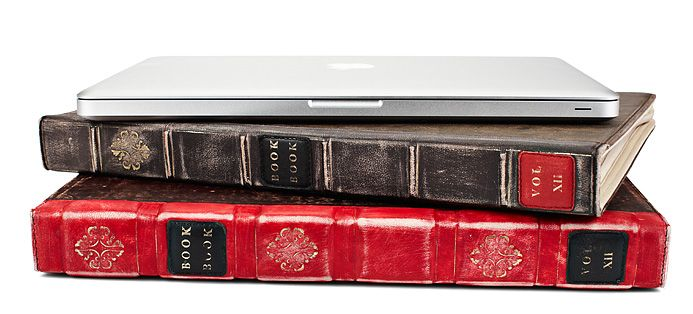 BookBook hardback leather MacBook case - I had to have this too, even more awesome in person :).