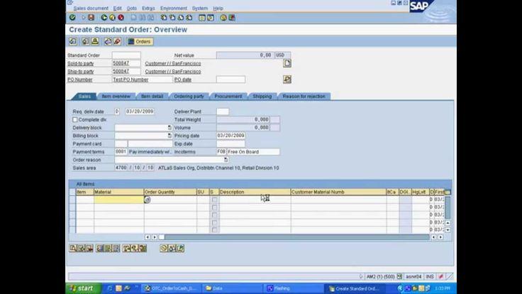 Standard Order to Cash Flow in SAP