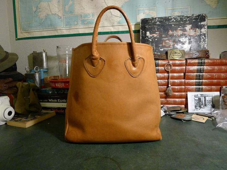 Vintage Ll Bean 1960 S British Tan Leather Tote Llbean