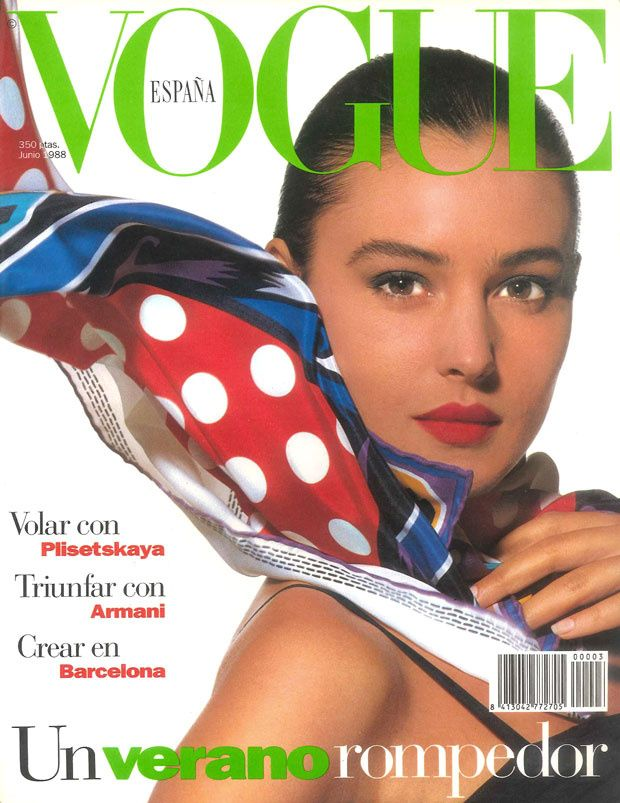 Monica Bellucci by Randolph Graff Vogue España June 1988