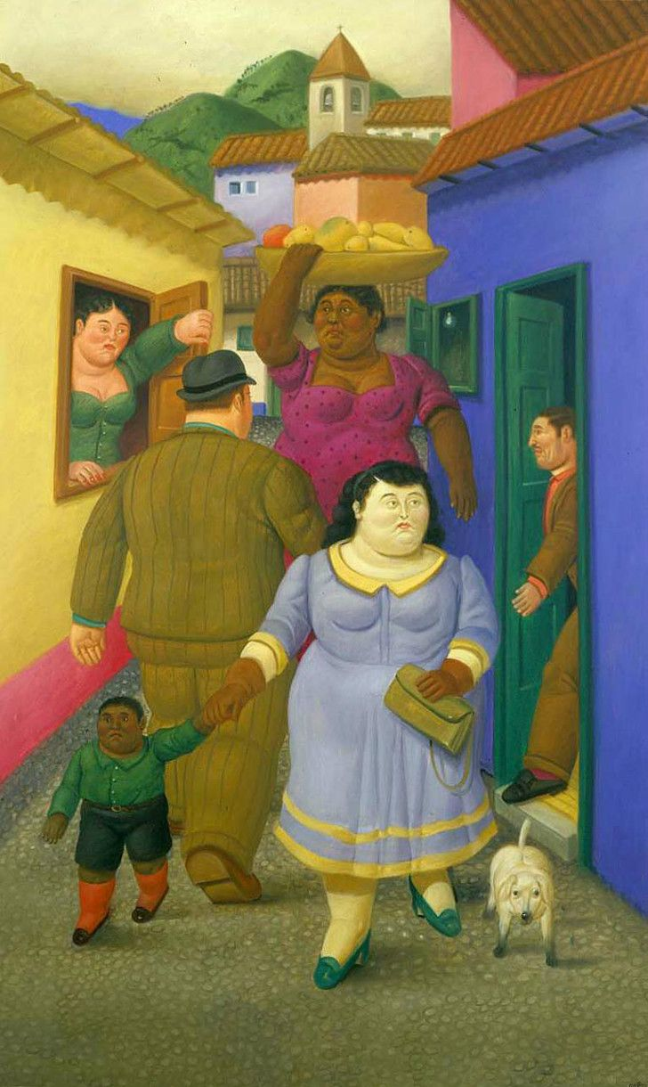 Fernando Botero - Street, 2000