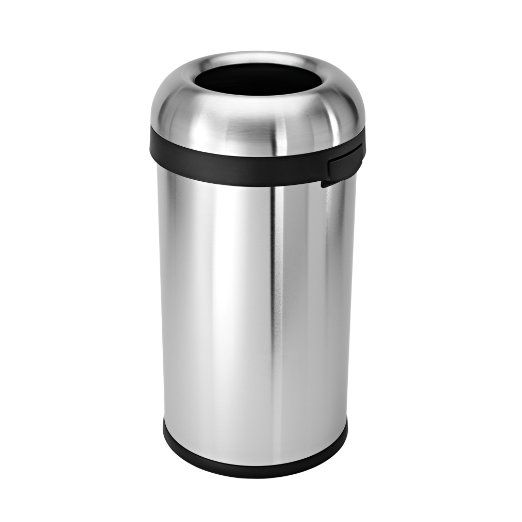 simplehuman CW1407 60 Liter Bullet Open Can, Brushed