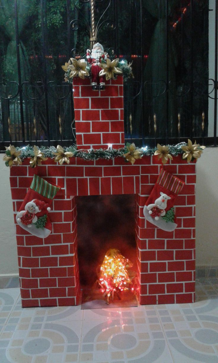 25 best ideas about cardboard fireplace on pinterest xmas decorations diy xmas decorations - Chimeneas artificiales decorativas ...