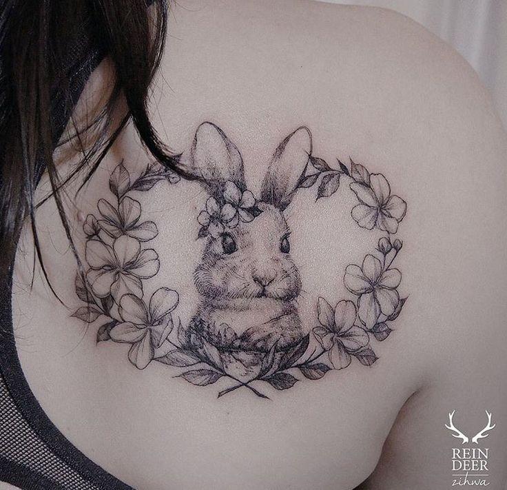 Bunny tattoo Credits Zihwa                                                                                                                                                     More