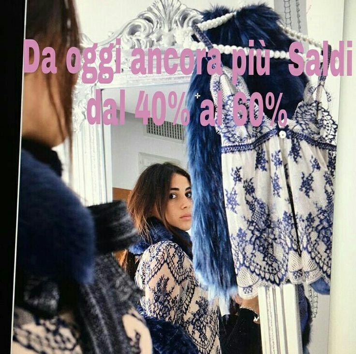 Da oggi ancora più  #saldi da #boutiquegnisci  Shop on line www.boutiquegnisci.com