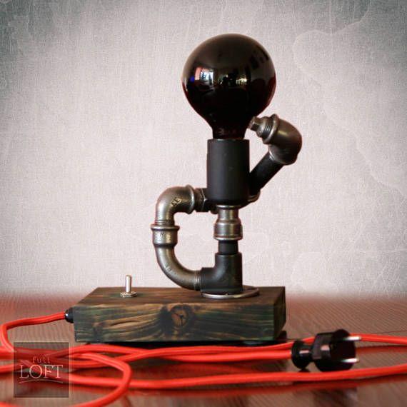 Steampunk lamp Table lamp Industrial lighting Bedroom table