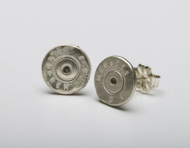 Two Sterling Silver .22's that are 7mm in diameter with Sterling Silver posts.