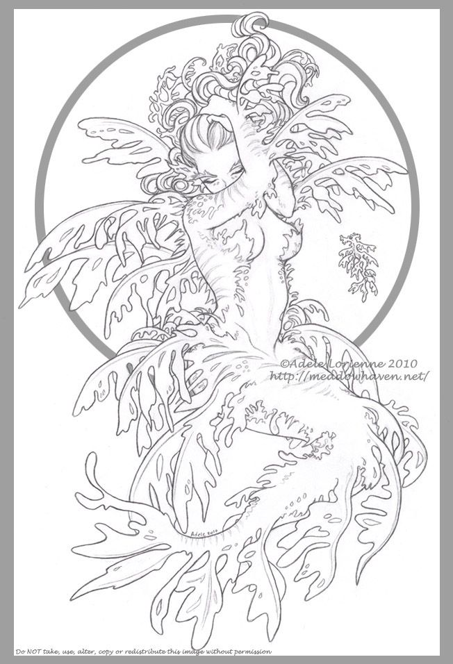im really thinking of going with a sea dragon style mermaid so adult coloring pagescoloring