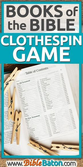 Easily memorize the books of the Bible with a fun hands-on activity!