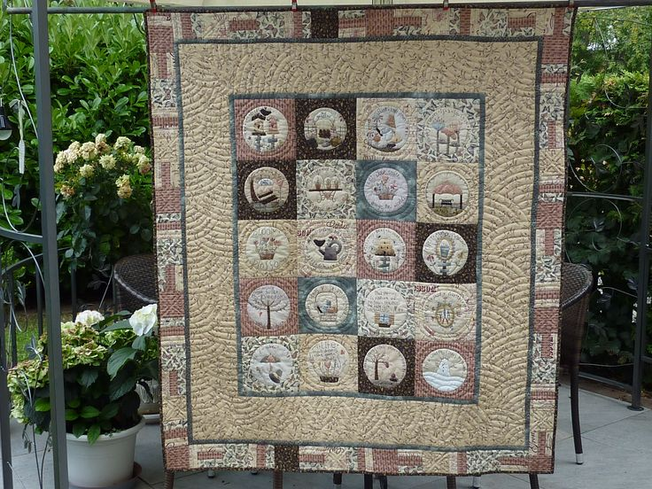 http://www.craftsy.com/pattern/quilting/home-decor/in-my-garden--pdf-by-m-jjenek/162802 #quilt #pdfpattern #handappliqué #sewing #patchwork #pattern