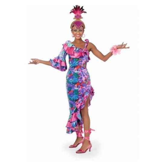 Sexy salsa jurk vrouwen  Fleurige salsa jurk. Deze vrolijk gekleurde salsa jurk heeft een schuin aflopende onderkant dit maakt de jurk een tikkeltje sexy. Deze salsa jurk is verkrijgbaar in diverse maten en van zeer goede kwaliteit.  EUR 44.90  Meer informatie