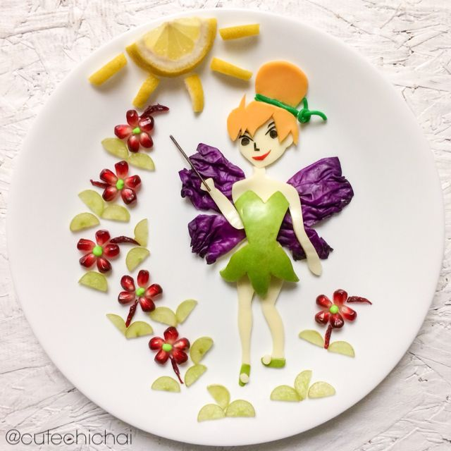 Food Art.  Tinkerbell.